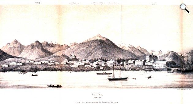 Sitka, Alaszka, 1867 (Fotó: britannica.com)