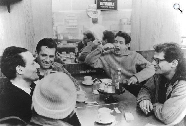 Pull My Daisy rövidfilm - Larry Rivers, Jack Kerouac, David Amram és Allen Ginsberg, 1959 (Fotó: openculture.com)