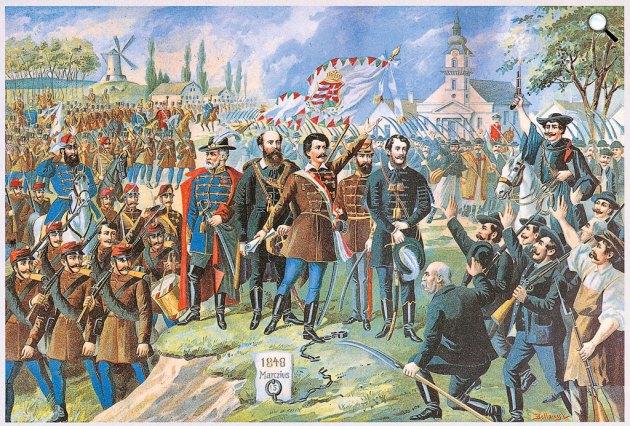 Bellony László: Forradalom és szabadságharc 1848–49-ben részlet (Fotó: Wikimédia)