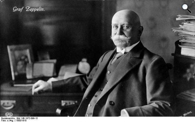 Ferdinand von Zeppelin, a nevét viselő léghajó tervezője, 1900 (Fotó: Bundesarchiv, Bild)