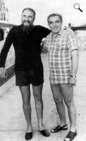 Fidel Castro kommunista politikus és  Gabriel García Márquez Nobel-díjas kolumbiai író (Fotó: Twitter)