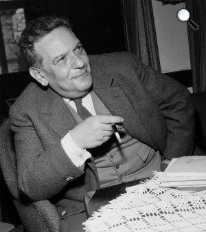 Hegedüs Géza (1912-1999) író, újságíró, költő, 1964 (Fotó: Fortepan)