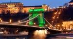 Lánchíd, Szent Patrik napja Budapesten (MTI Fotó: Illyés Tibor)