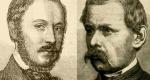 Tompa Mihály (1817-1868)  és Arany János (1817-1882) (Fotók: Vasárnapi Újság / OSZK)