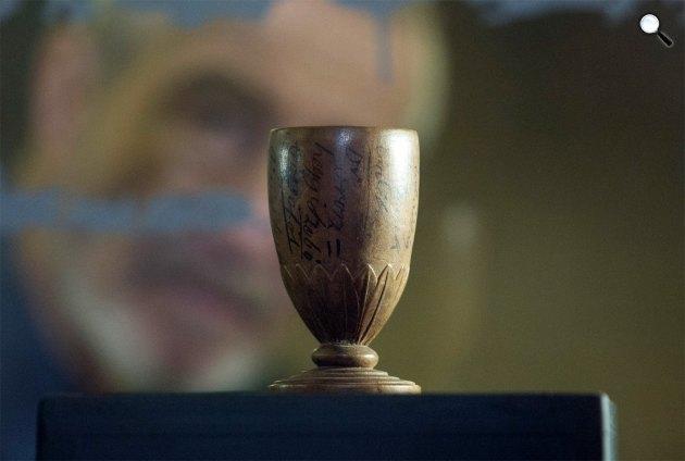 A márciusi ifjak egyike, Oroszhegyi Józsa emlékpohara, Nemzeti Múzeum (MTI Fotó: Szigetváry Zsolt)