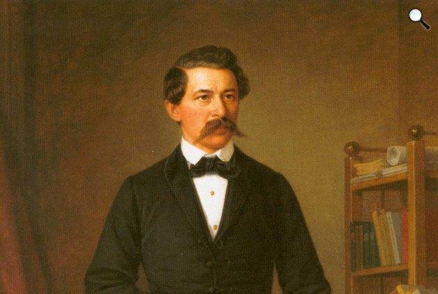 Barabás Miklós: János Arany portréja, 1884 - részlet (Fotó: Wikipédia)
