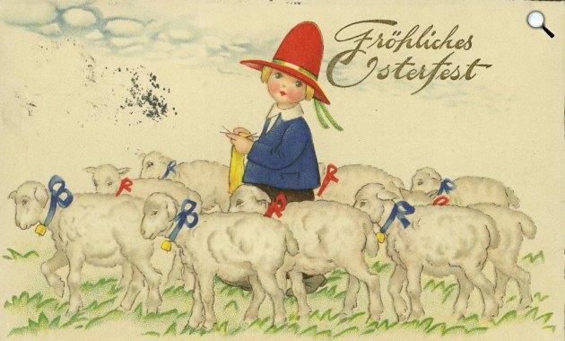 Osztrák húsvéti képeslap, 1934 (Fotó: goethezeitportal.de)