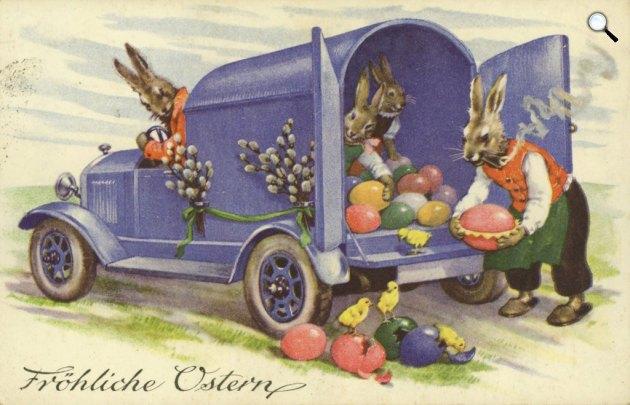 Osztrák húsvéti képeslap, 1918 (Fotó: goethezeitportal.de)