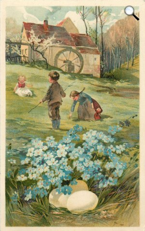 Osztrák húsvéti képeslap, 1906 (Fotó: goethezeitportal.de)