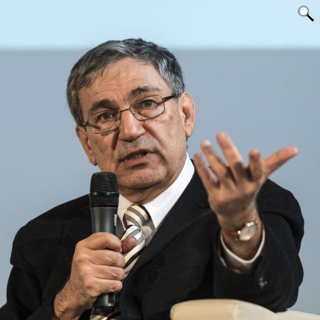 Orhan Pamuk Nobel-díjas török író a 24. Budapesti Nemzetközi Könyvfesztiválon, 2017 (MTI Fotó: Szigetváry Zsolt)