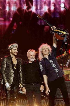 Queen (Roger Taylor és Brian May) és Adam Lambert (Fotó: Xavier Vila)