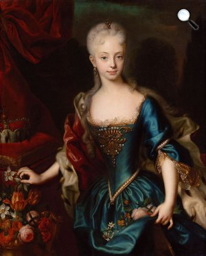 Andreas Möller: Mária Terézia főhercegnő (1717-1780), 1729 körül (Fotó: Kunsthistorisches Museum)