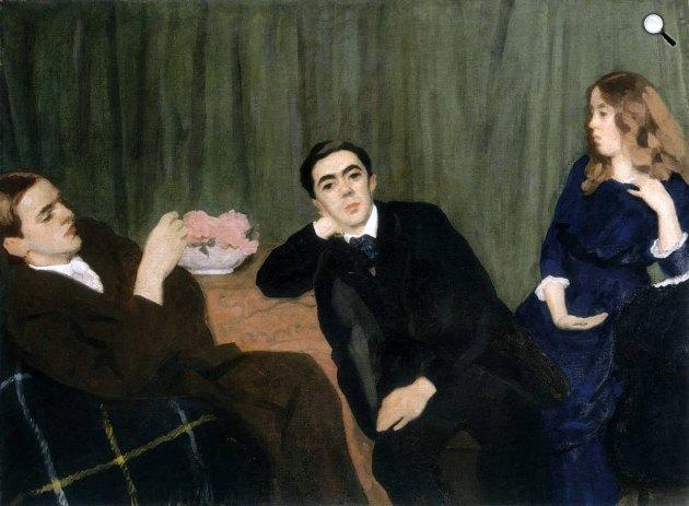 Ferenczy Károly: Hármas arckép - Testvérek (Béni, Valér, Noémi), 1911 (Fotó: MNG)
