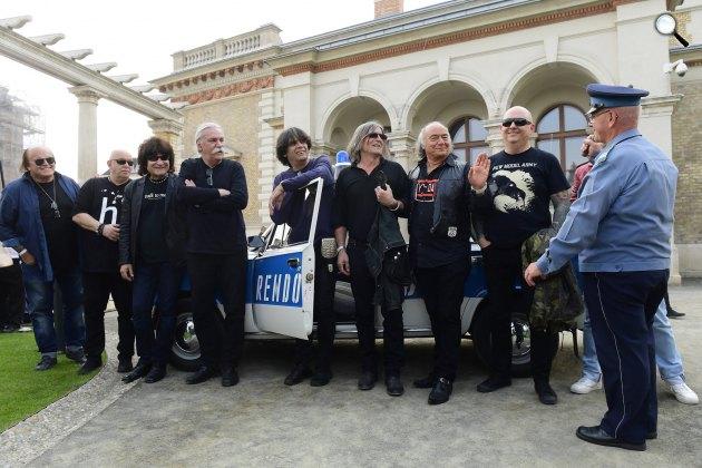 Rocklegendák több mint 30 év után az egykori Ifiparkban, Budapest (MTI Fotó: Kovács Tamás)