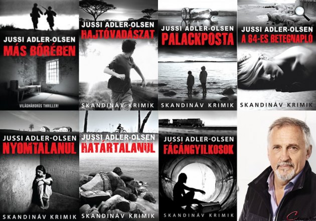 Jussi Adler-Olsen - könyvek, Animus Kiadó (Fotó: Cultura.hu)