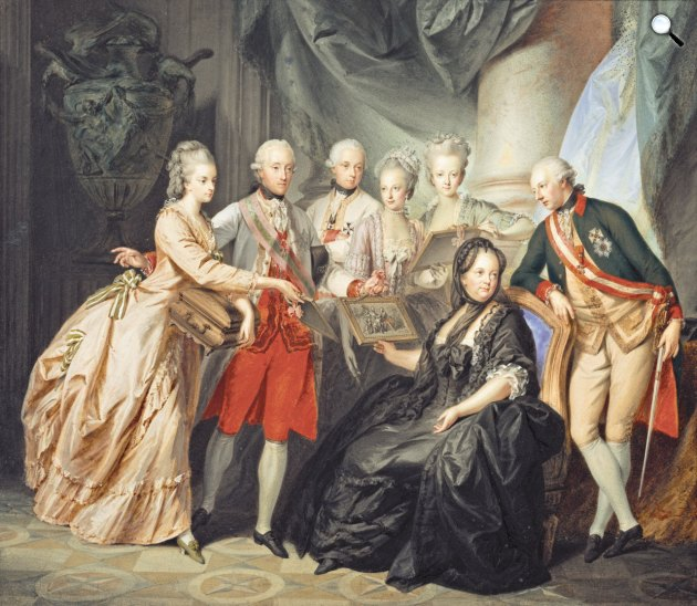 Mária Terézia császárné és királynő gyermekeivel  (Fotó: Kunsthistorisches Museum)