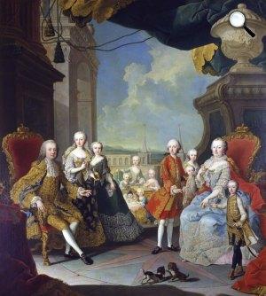 Martin van Meytens: Mária Terézia császárné és királynő a családjával, 1754 (Fotó: Kunsthistorisches Museum)