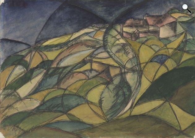 Moholy-Nagy László: Magyar táj, 1918. (Fotó: Gemeentemuseum Den Haag)