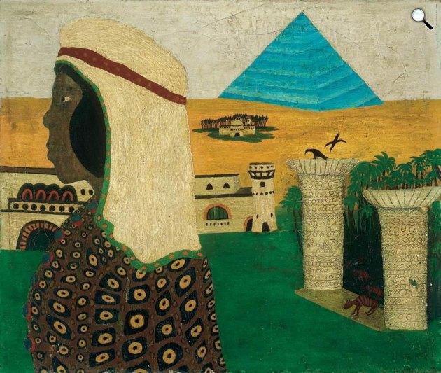 Mokry-Mészáros Dezső: Egyiptomi emlék (Fotó:  Virág Judit Galéria)