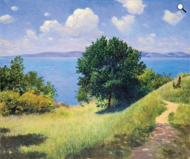 Szinyei Merse Pál (1845-1920): Szép idő (Derűs idő a Balatonon), 1917 (Fotó: Virág Judit Galéria)