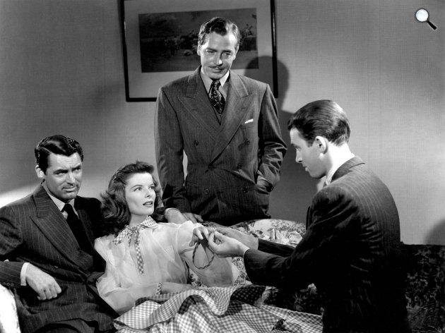 Philadelphiai történet - Katharine Hepburn, Cary Grant, James Stewart és John Howard, 1940 (Fotó: listal.com)