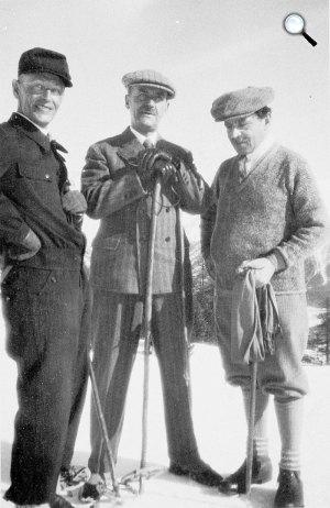 Hermann Hesse, Thomas Mann és Jakob Wassermann, Svájc, Alpok, 1931 (Fotó: babelio.com)