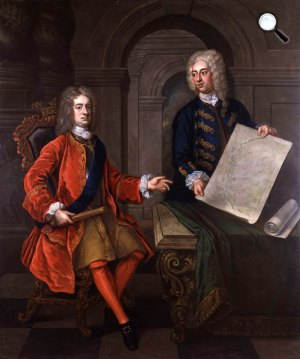 John Churchill, Marlborough első hercege és John Armstrong (Fotó: ismeretlen művész, NPG)