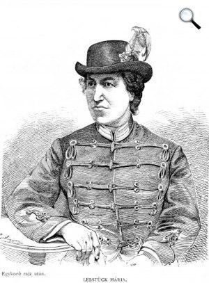 Lebstück Mária (1830-1892) honvéd főhadnagy (Fotó: OSZ)