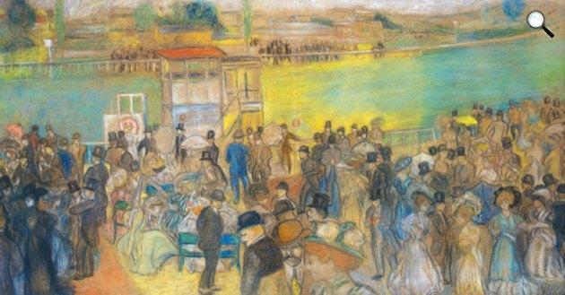 Rippl-Rónai József - Ostendei lóverseny, 1901 (Fotó: Virág Judit Galéria)