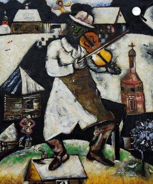 Marc Chagall (1887-1985): A zöld hegedűs (Fotó: Wikiart)
