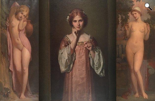 Stein János - Női aktok (Fotó: Kieselbach Galéria)