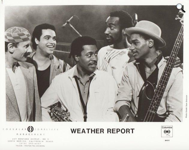 Weather Report - Zawinul, Cinélu, Shorter, Hakim, Bailey (Fotó: Sam Emerson)
