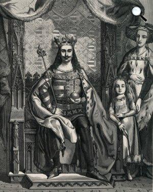 I. (Anjou Nagy) Lajos király és felesége, Kotromanić Erzsébet (Fotó: OSZK)