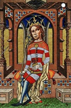 I. (Nagy) Lajos ábrázolása a Képes krónikában (Fotó: OSZK)