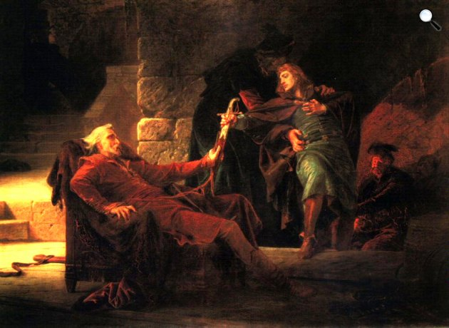 Székely Bertalan: Thököly Imre búcsúja apjától, 1875 (Fotó: MNG)