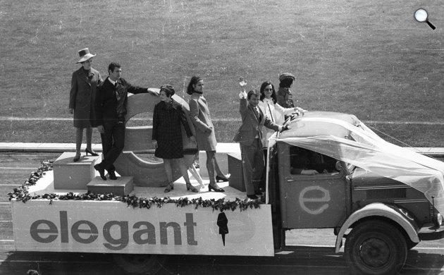 Színészek-Újságírók Rangadó (SZÚR), Koncz Zsuzsa és Aradszky László, 1969 (Fotó: Fortepan)