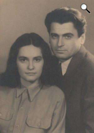 A fiatal házas Mészöly Miklós és Polcz Alaine (Fotó: PIM)