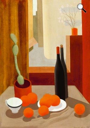 Kontuly Béla: Csendélet kaktusszal és narancsokkal, 1933 (Fotó: Kieselbach Galéria)