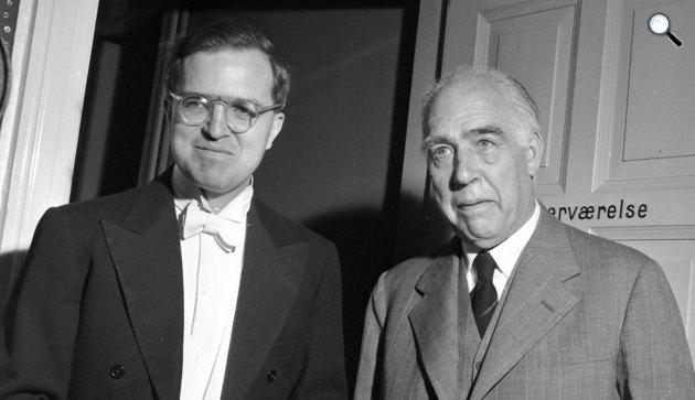 Niels Bohr Nobel-díjas fizikus és fia, Aage Bohr Nobel-díjas fizikus (Fotó: Wikipédia)