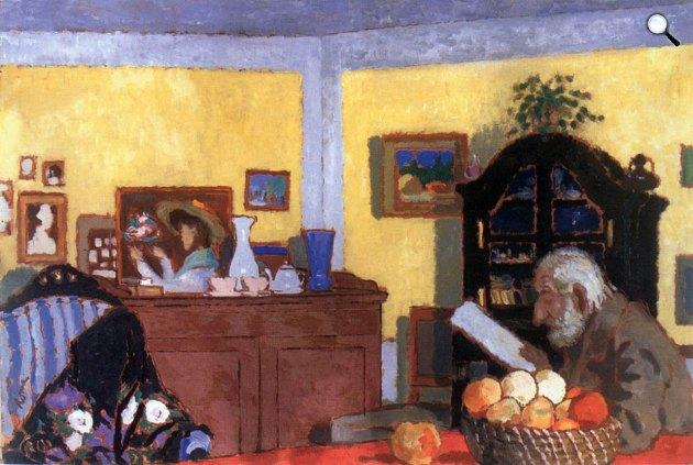 Rippl-Rónai József: Piacsek bácsi a sárga szobában, 1907 (Fotó:  Virág Judit Galéria)