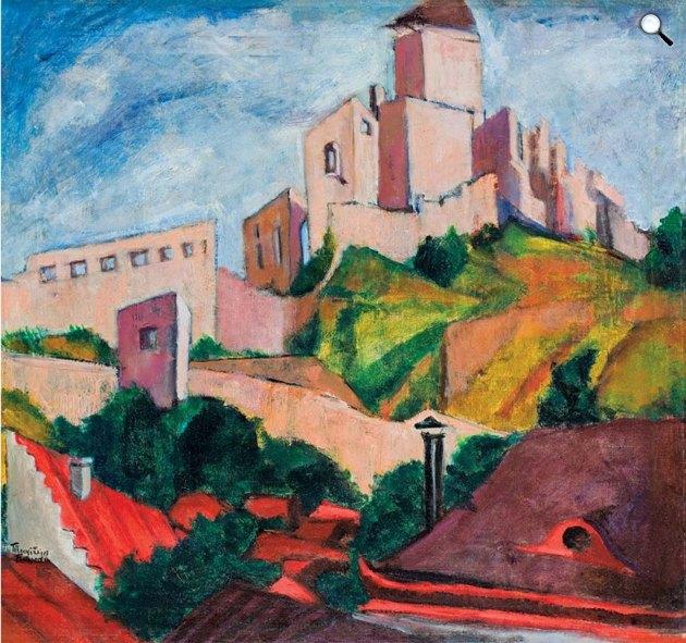 Tihanyi Lajos: Trencséni vár, 1912 (Fotó:  Virág Judit Galéria)