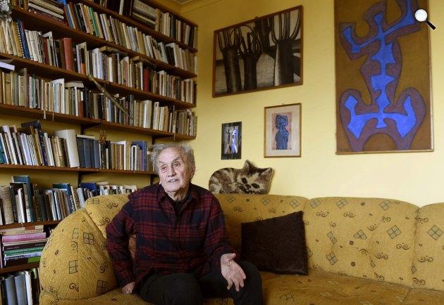 Tornai József Kossuth- és József Attila-díjas költő, író, műfordító, 2017 (MTI Fotó: Bruzák Noémi)