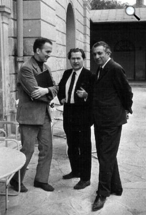 Nemzetközi Költőtalálkozó, Balról jobbra: Tornai József, Fodor András, Vészi Endre, 1970 május 7. (Fotó: OSZK)