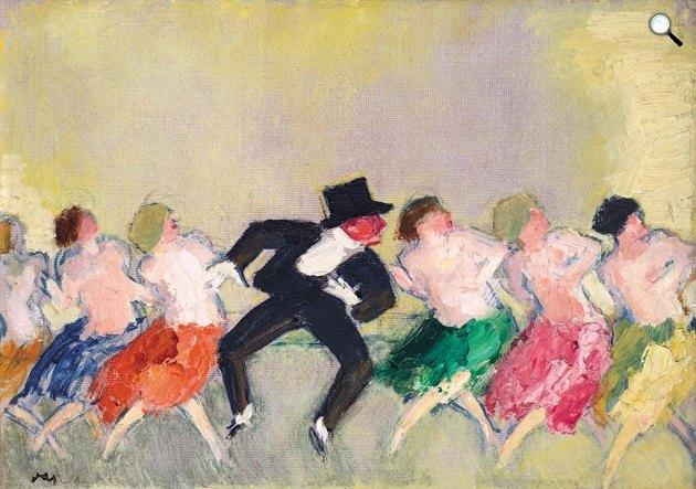 Vaszary János (1867-1939): Párizsi mulató (Mistinguett), 1925 (Fotó: Virág Judit Galéria)