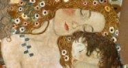 Gustav Klimt: Egy anya három éve - Anya és gyermeke - részlet (Fotó: klimtgallery.com)