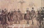 A kormány eskütétele 1867-ben (Forrás: MTA/Izsák–Pölöskei–Romsics–Urbán: Magyar miniszterelnökök 1848–2002)